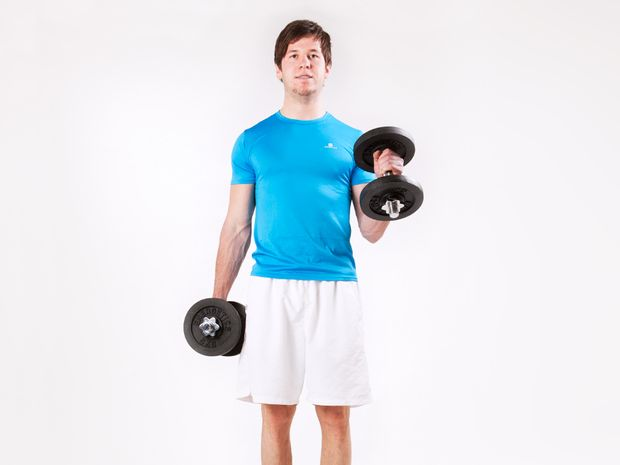Hammer Curls, Standing, with Dumbbells