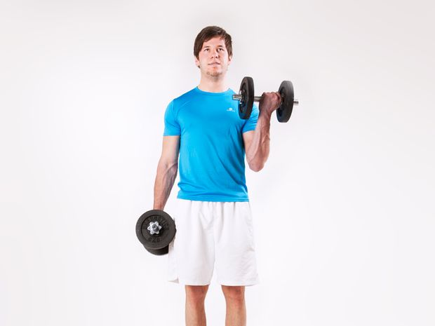 Biceps Curls, Standing, with Dumbbells
