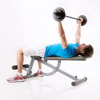 Bench Press, Wide Grip with Barbell