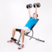 Bench Press, on Incline Bench with Dumbbells