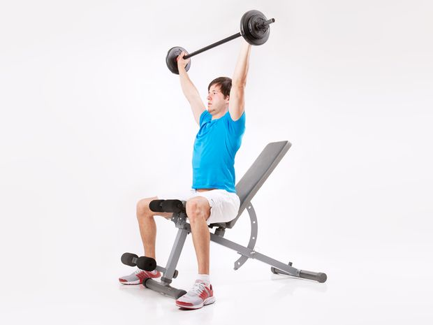Shoulder Press with Barbell