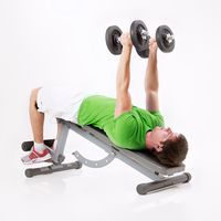 Negative Bench Press with Rotation