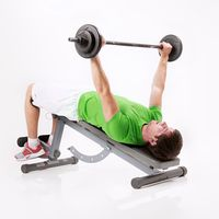 Negative Bench Press with Barbell