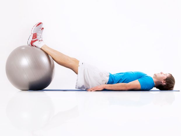 Pelvic Lift on Swiss Ball