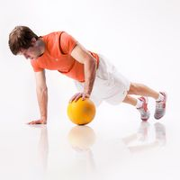 Stabilising Pushup, one-legged